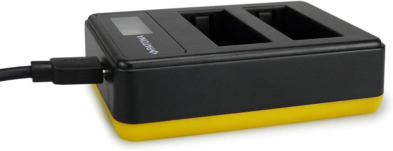 USB-C PATONA Double LCD Chargeur Compatible avec Nikon EN-EL15 Batteries avec USB-A Micro-USB-Connecteur