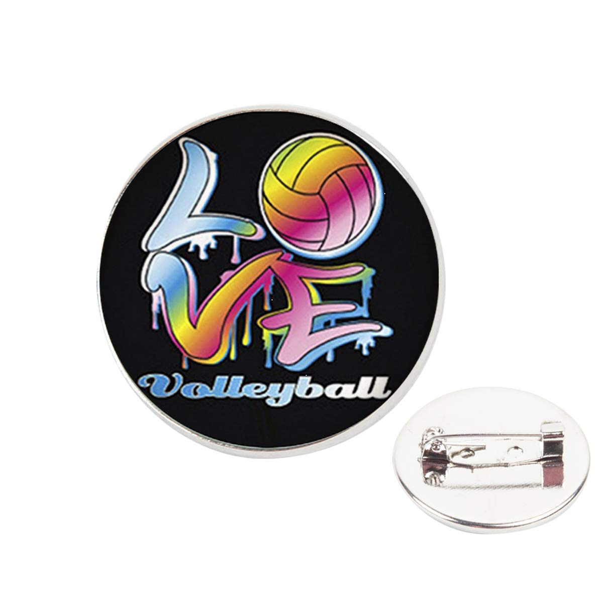 Pinback Buttons Badges Pins I Love Volleyball Lapel Pin Brooch Clip Trendy Accessory Jacket T-Shirt Bag Hat Shoe