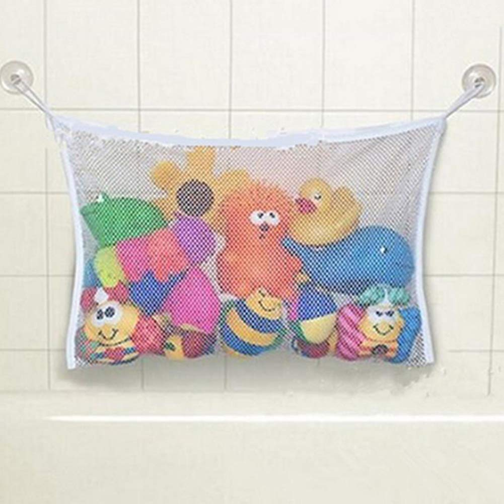 Slendima Baby Bath Toy Hanging Mesh Net Child Bathroom Stuff Storage Bag with Suction Cup - S/L S