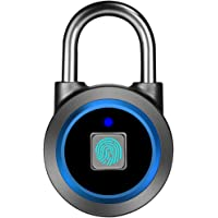Fingerprint Padlock, Bluetooth Lock, APP, IP65 Waterproof, MEGAFEIS Smart Padlock with Keyless Biometric Suitable for…