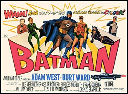 Batman Fridge Magnets 1966 British Movie Posters Magnetic Canvas Print 3.5 x 5 -