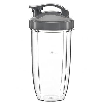 Nutribullet licuadora exprimidor de repuesto, enorme de repuesto vasos para Nutribullet alta velocidad Blender/Mixer | 32 oz Nutribullet taza con Flip Top ...
