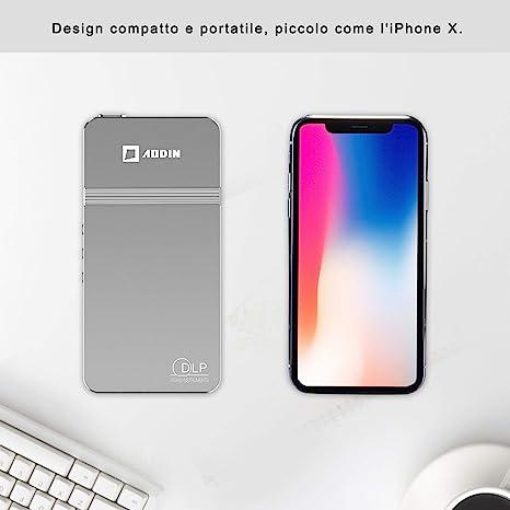 AODIN Proyector portátil de Bolsillo DLP LED: Amazon.es ...