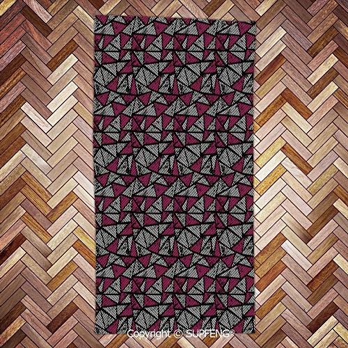 Sweat Towel Grunge Fashion Retro Old School Triangle Pop Art Mosaic Print Decorative/3d Printing/Water Absorption/Multipurpose (Triangle Pop Art)