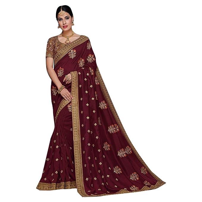 Amazon.com: Vestido étnico indio 7974 de seda de satén para ...