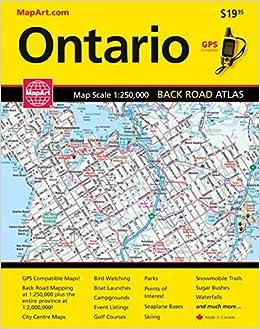 Ontario Back Road Atlas MapArt Publishing 9781551982267 Amazon