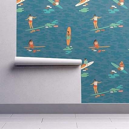 Surfing Wallpaper Sample Swatch Surf Surfer Sport Ocean