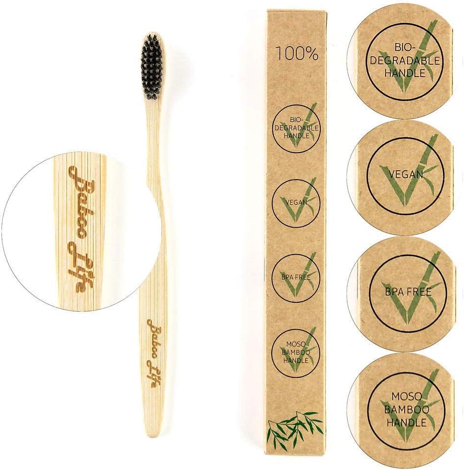 Cepillo de dientes de madera de bambú por Baboo Life | 100 ...