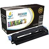 CatchSupplies reemplazo Q6000A Cartucho de tóner Negro para la serie HP 124A   2.500 rendimiento   compatible con el color HP LaserJet 2600N, 1600, 2605N, 2605dn, 2605DTN, CM1015 MFP, CM1017 MFP