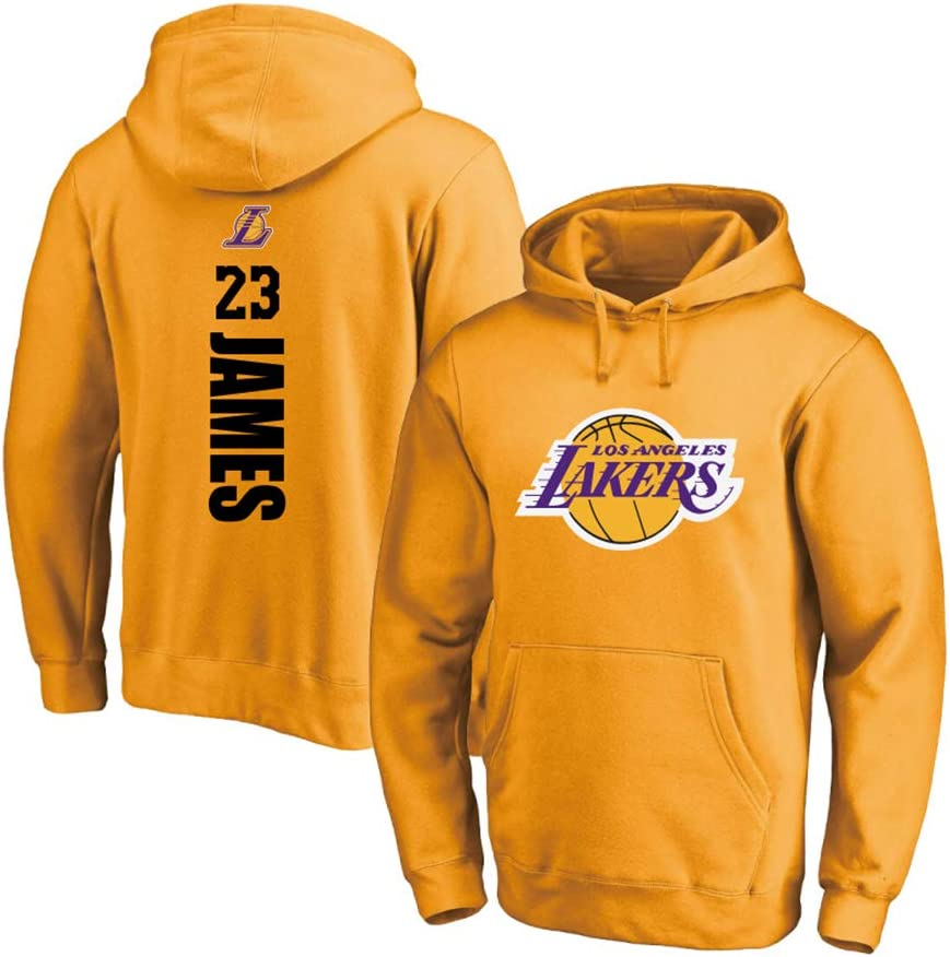 Fans Loose Sweatshirt for Sports and Casual WearBasketball fan clothesBasketball fan clothesBasketbal GEQIAN Mens Womens Basketball Hoodie Los Angeles Lakers #23 LeBron James Hooded Training Jersey