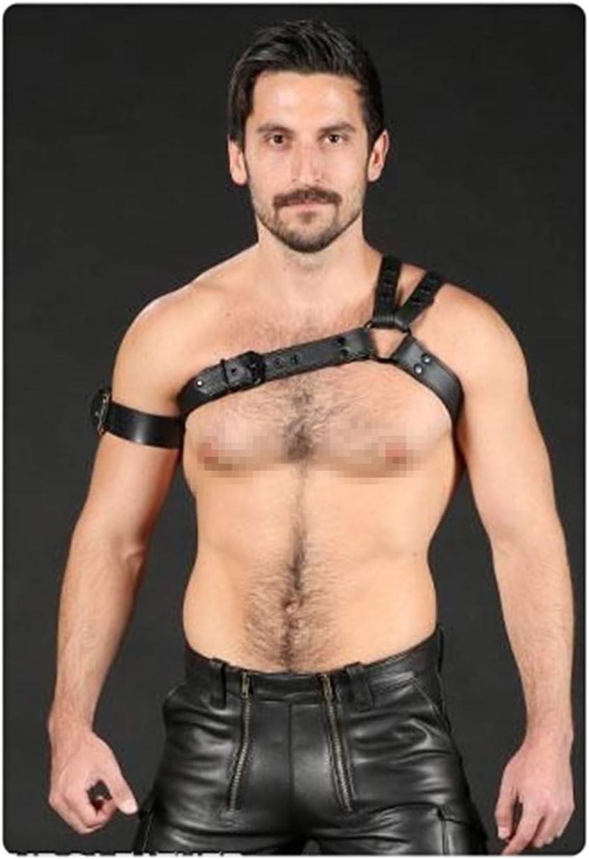 nice shop now Cinturón de arnés Para hombre de cuero ajustable Punk pecho medio hebilla anillos Gothic tirantes Steampunk hombro correas cinturón Traje para ocasiones especiales