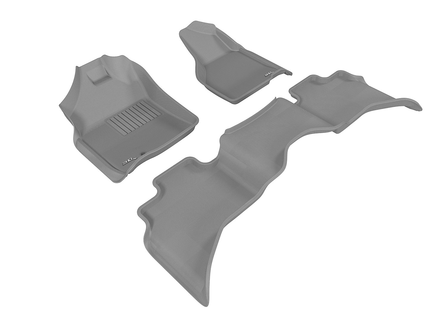 Kagu Rubber 3D MAXpider Front Row Custom Fit All-Weather Floor Mat for Select Dodge Ram Models Gray