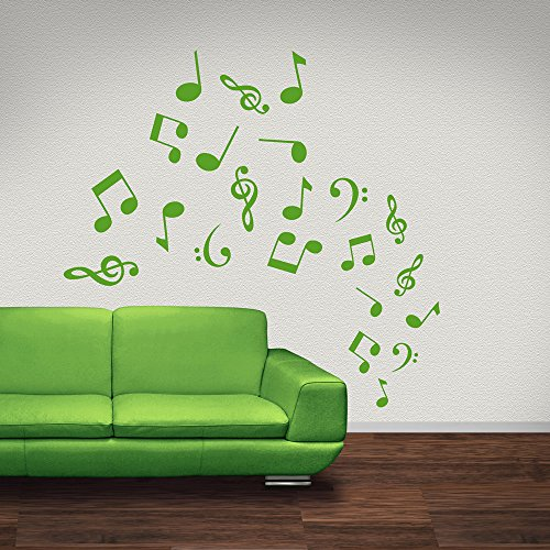 Musical Notes Symbols Tornado Musical Notes & Instruments Wall Sticker Art Decal available in 5 Sizes and 25 colors X-Small Fuchsia Pink (Tornados Pink Art)