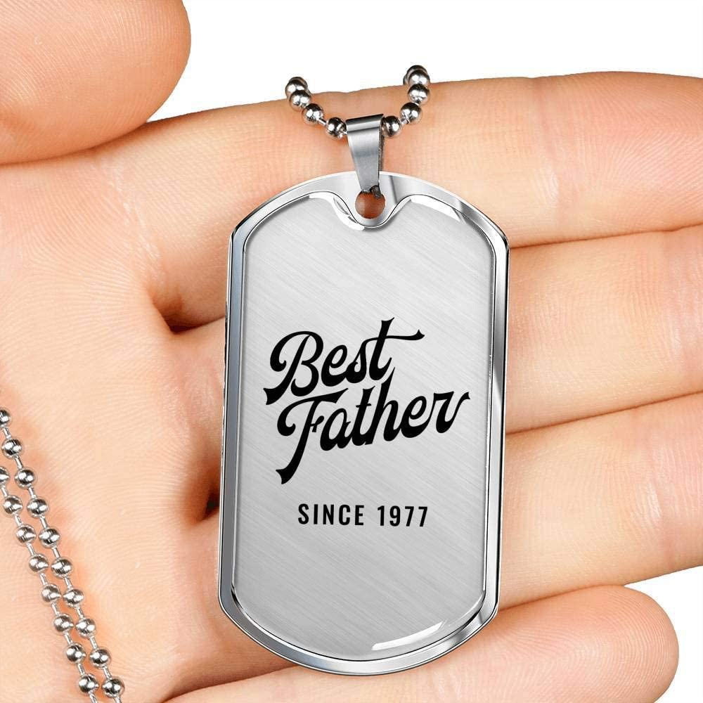 Luxury Dog Tag Necklace Unique Gifts Store Best Father Since 1977