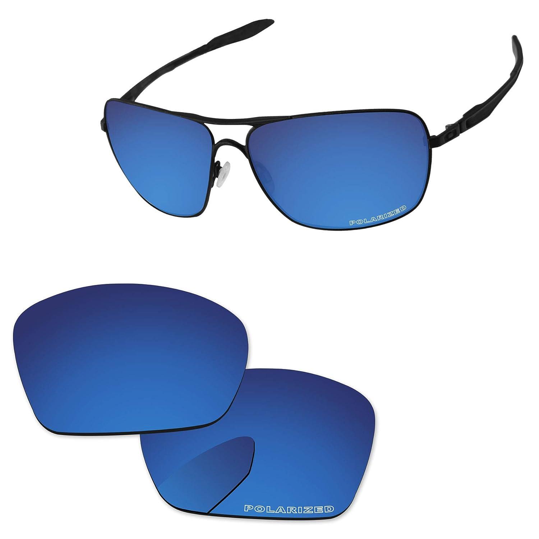 3422e34d81 Amazon.com  PapaViva Lenses Replacement for Oakley Plaintiff Squared Black  Grey - Polarized  Clothing