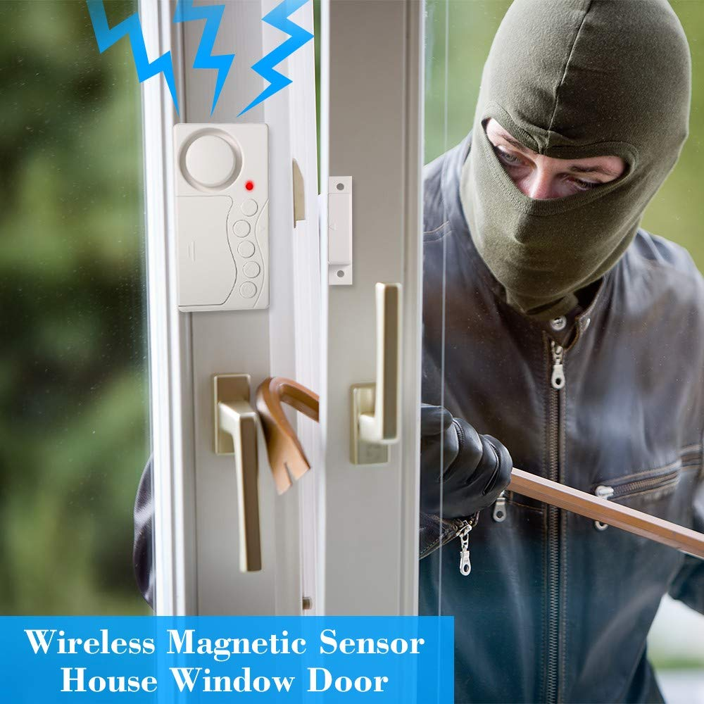 Wireless Magnetic Sensor House Window Door Motion Detector Alarm System Security Home Guarding by Generic (Image #7)