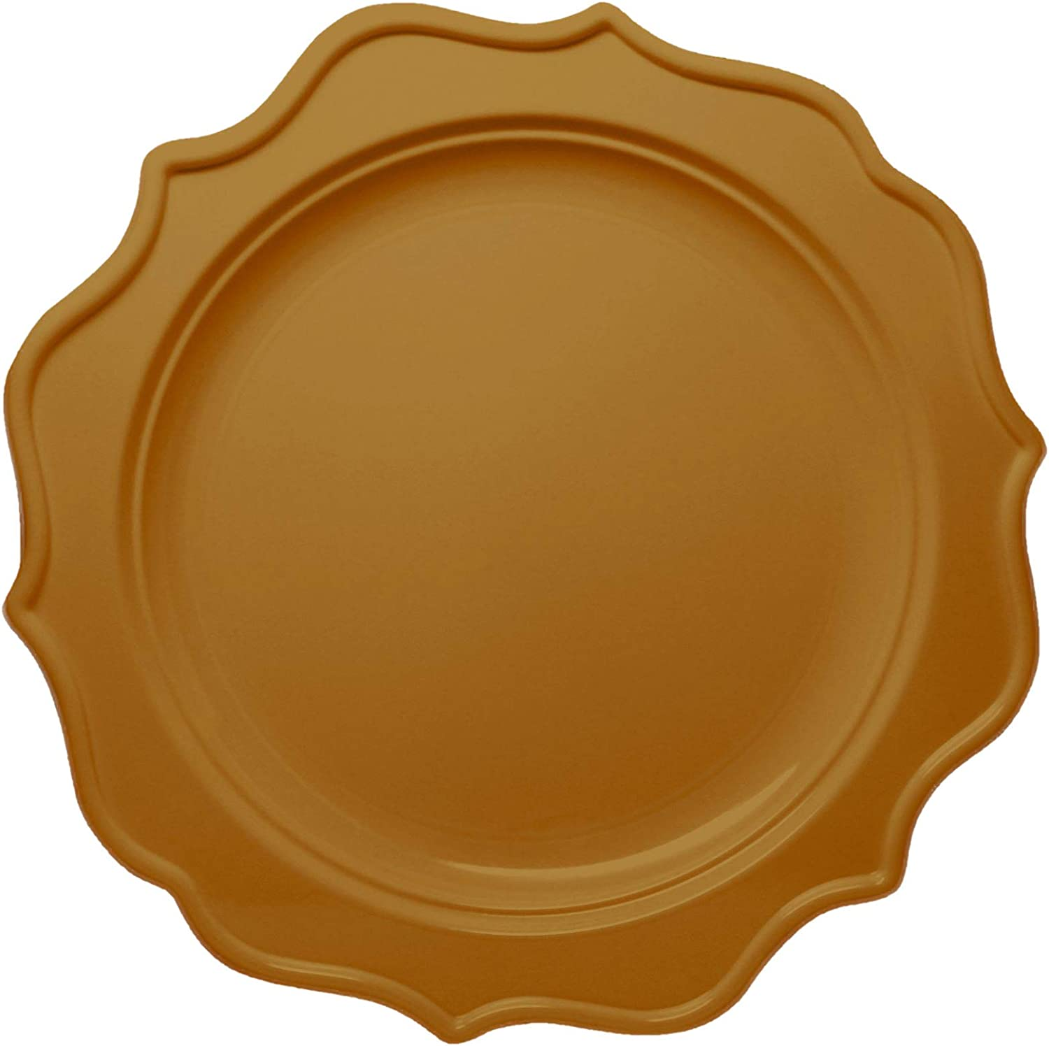BPA-Free 48 8-Inch Salad Plates Tiger Chef 96 Pack Round Scalloped Rim Disposable Plastic Plate Set for 48 Guests Includes 48 10-Inch Dinner Plates