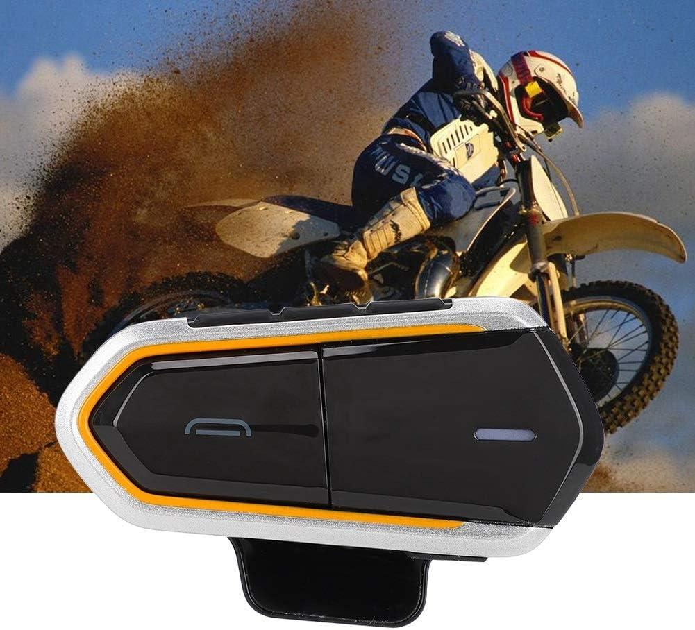Bluetooth Motorcycle Wireless Intercom Motorbike Intercom Helmet Headset with FM Radio Phone Calling Function Motorbike Helmet Intercom Communication System Bluetooth Headsets