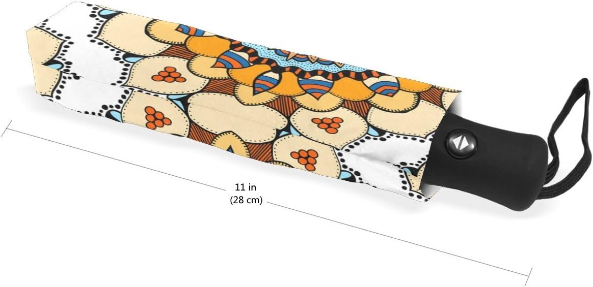 DOENR Brown Roman Style Compact Travel Umbrella Sun and Rain Auto Open Close Umbrellas Windproof UV Protection Umbrella