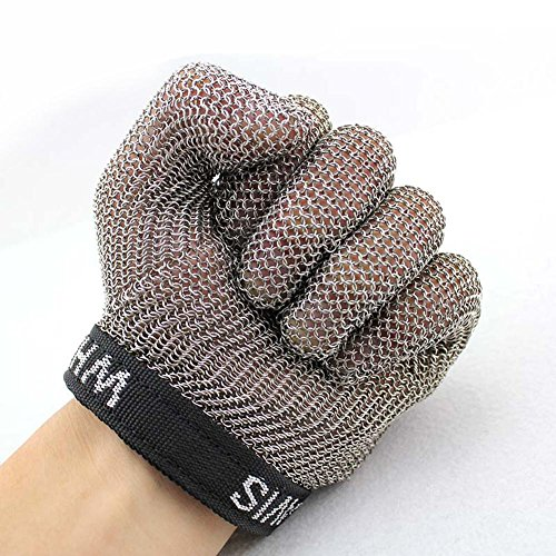 Stainless steel ring cutting gloves protective gloves slaughterhouse metal wire tapping supplies / only , m by LIXIANG (Image #3)