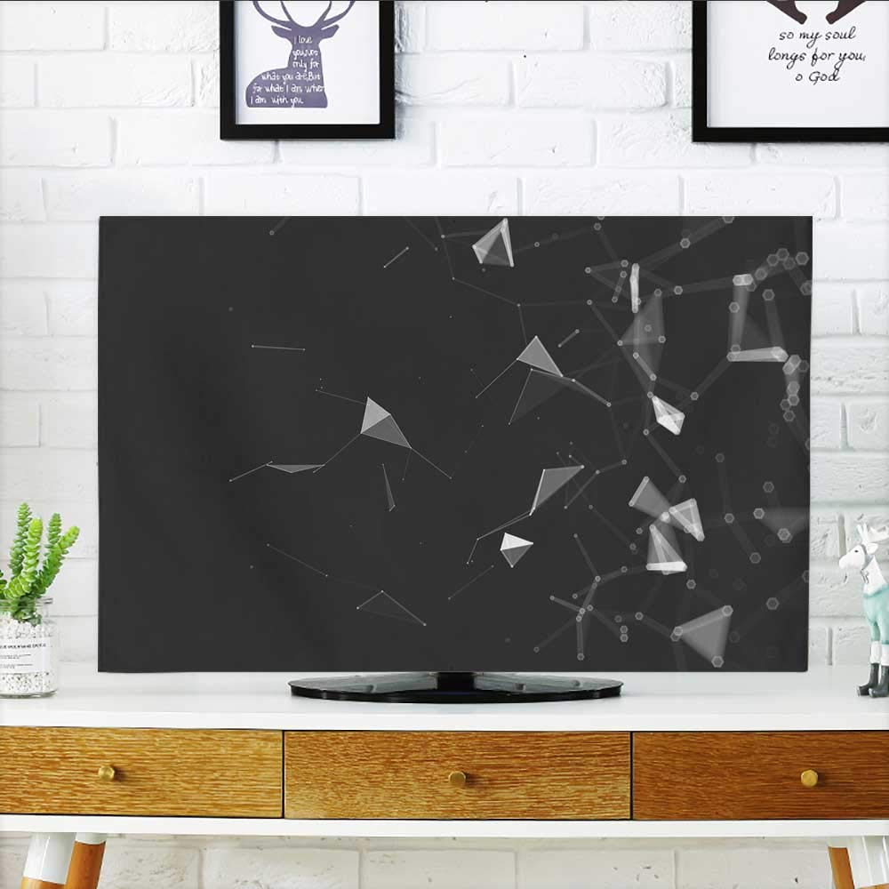 Philiphome Cover for Wall Mount tv Polygonal Space Low Poly Background with Connect dots Cover Mount tv W36 x H60 INCH/TV 65''