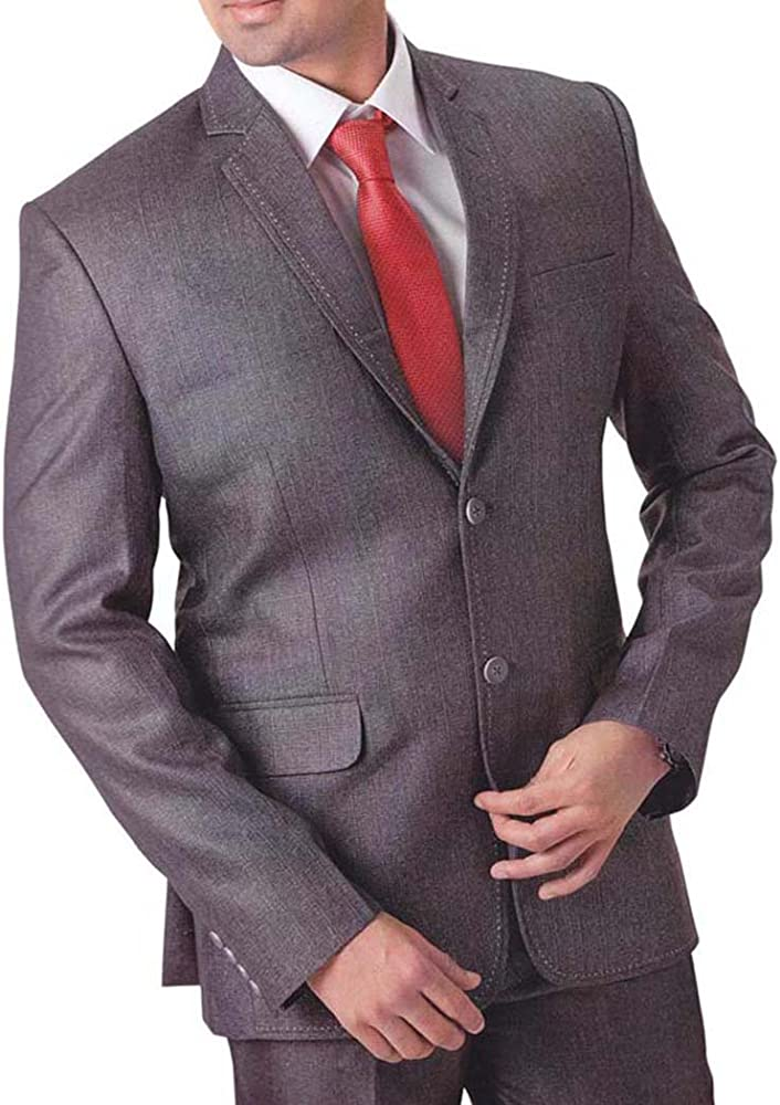 INMONARCH Hombres 4 pc Smoking Traje Gris grandioso TX758XL34 44 ...