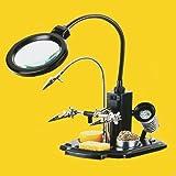 Helfende Hand Platinenhalter ZD-10Y mit LED Lupenleuchte Lötkolbenablage