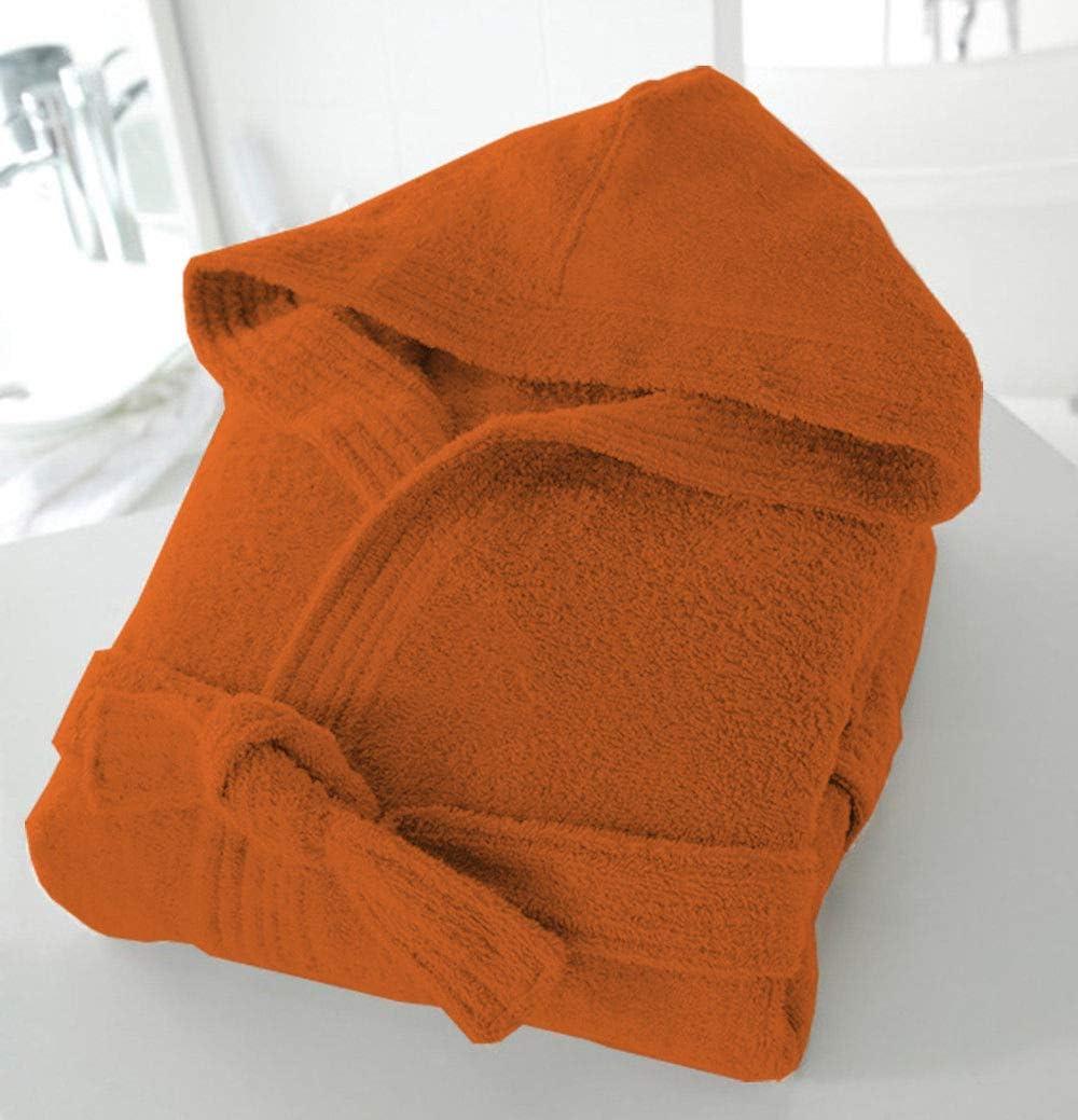 Casabella Arancione 100/% cotone unisex Accappatoio in spugna 100/% cotone L//XL con cappuccio 500 g//mq
