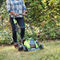 GreenWorks 19-Inch 40V Cordless Lawn Mower with Extra Blade