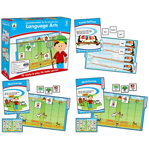 Carson-Dellosa CD-140311 Language Arts File Folder Game, Grade 2, 16 Games, 30 Sheets of Cards (Pack of 46) ()