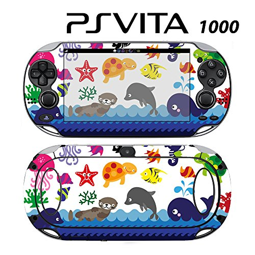 Skin Decal Cover Sticker for Sony PlayStation PS Vita (PCH-1000) - Sea Animal Jellyfish Dolphin -  Decals Plus, PV1-PA30
