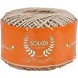 Fairy Season - Gomitolo di corda in iuta naturale, 100 m, ideale per matrimoni, etichette per regali, decorazioni