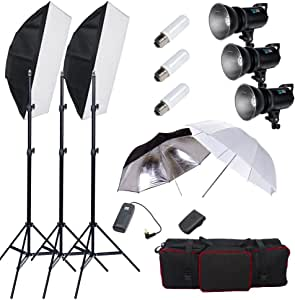 BPS - 900W Flash Estudio Fotografía Profesional Kit