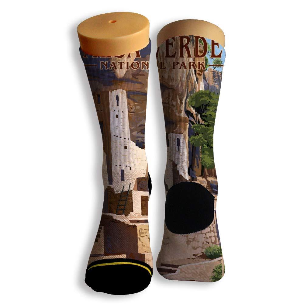 Basketball Soccer Baseball Socks by Potooy Mesa Verde 3D Print Cushion Athletic Crew Socks for Men Women