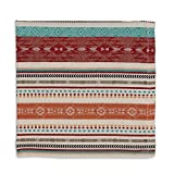 Design Imports Southwest Table Linens, 20-Inch by 20-Inch Napkins, Set of 4, Mesa Stripe Jacquard