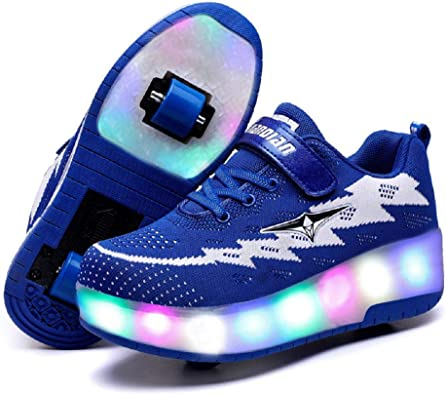 Chic LED Light up Slip-On Shoes USB Rechargeable Flashing Sneakers for Toddlers Kids Boys Girls