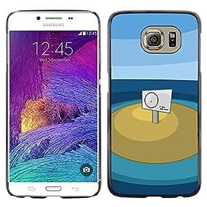 CASEX Cases / Samsung Galaxy S6 SM-G920 / You Are Here # / Delgado Negro Plástico caso cubierta Shell Armor Funda Case Cover Slim Armor Defender