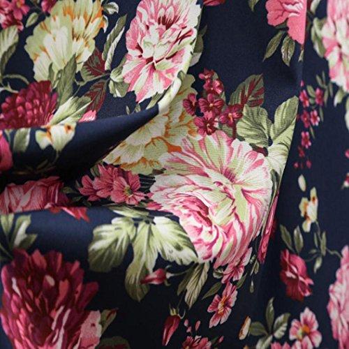 Vestiti Corto floreale Vestiti donna con senza stampa B da da casual Abito Da estivi aderente donna cerimonia maniche Abiti vintage Sysnant Cocktail da r66XqRwz