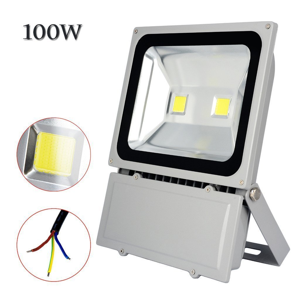 Sanzo 4 pack 100w watt 6300lm cool white led flood light high power sanzo 4 pack 100w watt 6300lm cool white led flood light high power floodlight outdoor wall spotlights home security industrial business surveillance aloadofball Image collections