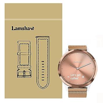 Ceston Magnetique Milanais Metal Acier Classique Bracelet De Remplacement Pour Garmin Vivomove HR / Garmin Vivoactive