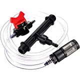 Qiorange 1/2 Inch Irrigation Venturi Fertilizer Kit Mixer Injectors Tube Switch Filter