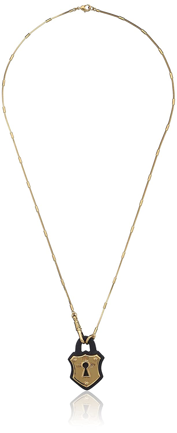 d1d419ef23d7f Vivienne Westwood Men's Ezra Padlock Pendant Necklace | Amazon.com