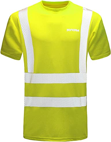 PortWest Two Tone Mens Polo Hi Vis T-shirt Soft Highly Breathable Comfort TShirt