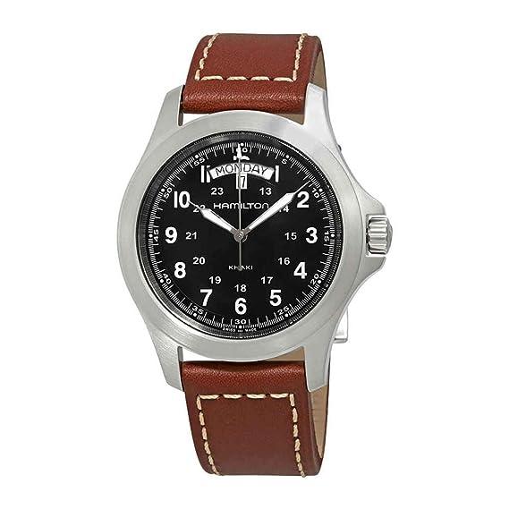 Hamilton Reloj Analogico para Hombre de Cuarzo con Correa en Cuero H64451533: Amazon.es: Relojes
