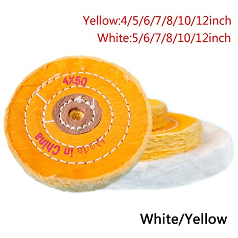 White Cotton Lint Cloth Buffing Wheel Gold Silver Jewelry Mirror Polishing Wheel 50 Layers Tools