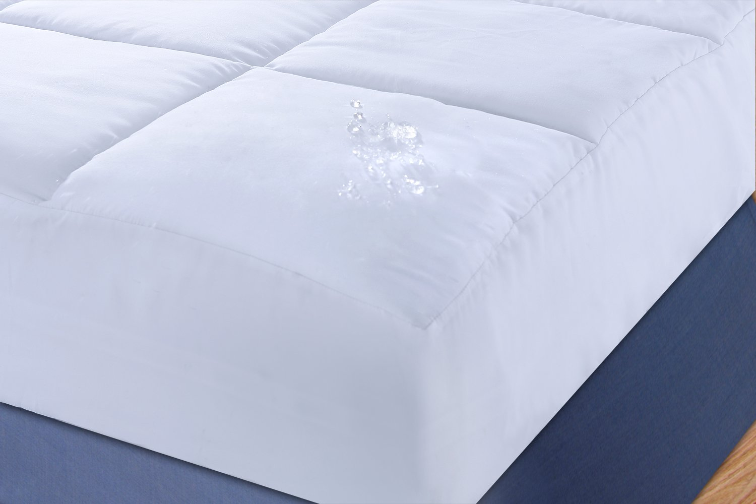 Stayclean Microfiber Water and Stain Resistant Mattress Pad, King Epoch Hometex Inc 848342042650