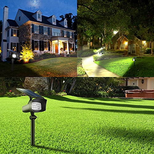 Tomcare Solar Lights Upgraded 2 In 1 Waterproof Wireless