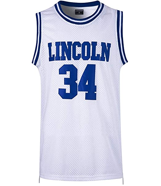 huge selection of d0018 fa518 JOLISPORT Men's Basketball Jersey Jesus Shuttlesworth 34 Lincoln High  School Basketball Jersey S-XXXL White