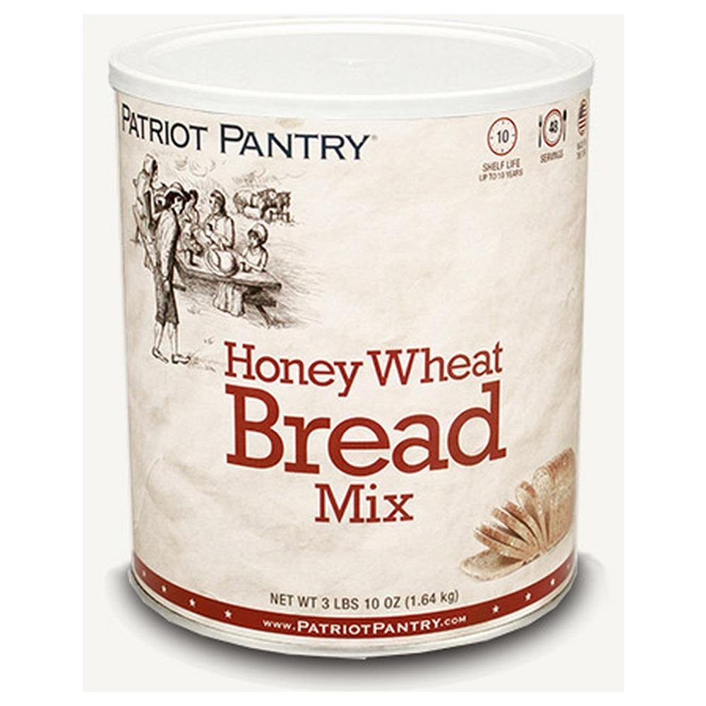 Patriot Pantry Honey Wheat Bread Mix (48 servings) #10 Can Bulk Emergency Storage Food Supply, Up to 10-Year Shelf Life