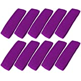 Mallofusa 10 PCS Cotton Sports Basketball Headband / Sweatband Head Sweat Band/brace Gift Party Outdoor Activities (Purple)